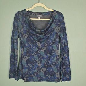 Ibex Merino Wool Diana Cowl Neck Shirt Small